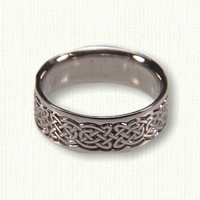 14kt White Gold Celtic Tralee Knot- Reverse Etch