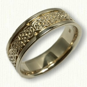 14kt Yellow Gold Celtic Tralee Knot Wedding Band