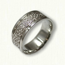 Sterling Silver Celtic Tralee Knot Wedding Band - 8.0 mm width